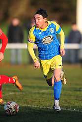 MICHAEL CLUNAN KINGS LYNN, Kettering Town FC v Kings Lynn Town FC Evo stk Southern Premier League, Latimer Park Monday New Years Day 1st January 2018.<br /> Photo:Mike Capps, Score 1-0 (Aaron O'Connor) Kettering go top of Table