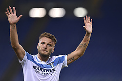November 8, 2018 - Rome, Rome, Italy - Ciro Immobile of Lazio greets his supporters during the UEFA Europa League Group Stage match between Lazio and Olympique de Marseille at Stadio Olimpico, Rome, Italy on 8 November 2018. (Credit Image: © Giuseppe Maffia/NurPhoto via ZUMA Press)