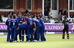 Gloucestershire celebrate the wicket of Gary Wilson of Surrey CCC - Mandatory byline: Robbie Stephenson/JMP - 07966 386802 - 19/09/2015 - Cricket - Lord's Cricket Ground - London, England - Gloucestershire CCC v Surrey CCC - Royal London One-Day Cup Final