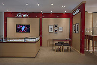 Interior image of Cartier  retail display at jewelery store by Jeffrey Sauers of Commercial Photographics
