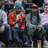 19 November 2010: Rapper artist Lil Wayne is seen during the Miami Heat 95-87 victory over the Charlotte Bobcats at the AmericanAirlines Arena, Miami, Florida, USA.