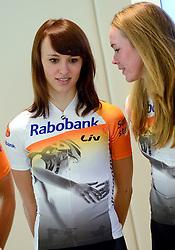 13-01-2014 WIELRENNEN: PRESENTATIE RABOBANK LIV DAMESTEAM 2014: UTRECHT<br /> In het hoofdkantoor van Rabobank Nederland werd het Rabo damesteam gepresenteerd / Katarzyrna Niewiadoma<br /> &copy;2014-FotoHoogendoorn.nl