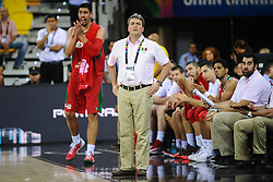 Sergio Valdeolmillos, head coach of Mexico during basketball match between National Teams of Slovenia and Mexico in Round 2 of Group D of FIBA Basketball World Cup Spain 2014, on August 31, 2014 in Gran Canaria Arena, Las Palmas, Canary Islands. Photo by Tom Luksys  / Sportida.com <br /> ONLY FOR Slovenia, France