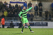 Forest Green Rovers Sam Wedgbury(8) during the FA Trophy 2nd round match between Chester FC and Forest Green Rovers at the Deva Stadium, Chester, United Kingdom on 14 January 2017. Photo by Shane Healey.