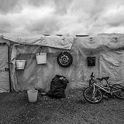 A tent in the camp of San Ferdinando, near Rosarno, Calabria. During the winter around 3000 farmhands arrive in the Piana of Goia Tauro area for the harvest of mandarins
