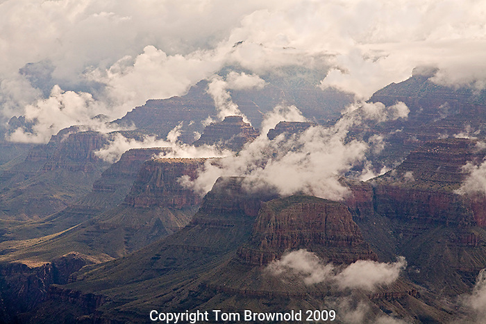Storm clearing out of Grand Canyon