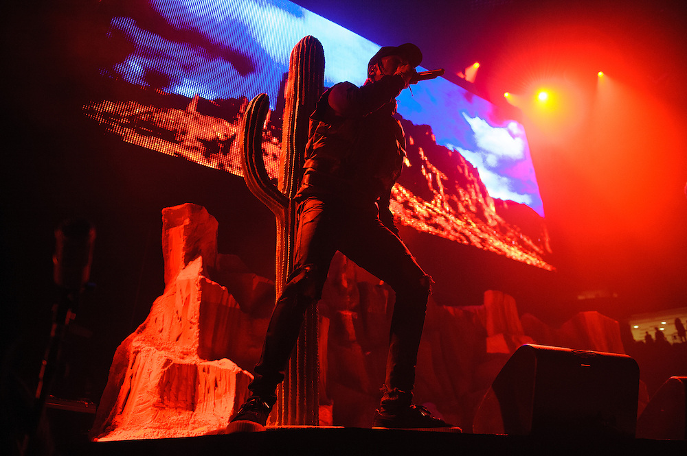 "Photos of Travis Scott performing live for ""The Madness Fall Tour"" at Prudential Center in Newark, NJ on November 11, 2015. © Matthew Eisman/ Getty Images. All Rights Reserved"