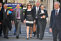 © Licensed to London News Pictures.15/03/2017.London, UK.   CLAIRE BLACKMAN, wife of Sergeant Alexander Blackman, arrives at the Royal Courts of Justice in London, where the appeal of Sgt Blackman will be announced.  Also known as Marine A, Sgt Blackman is appealing a life sentence for the murder of a wounded Taliban fighter in Afghanistan in 2011.Photo credit: Ben Cawthra/LNP