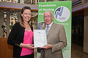 Rachel Bevan & Professor Tony Butterworth at the Foundation of Nursing Studies Celebrating Innovation and Excellence held on 07 June 2016 1800-2000. <br /> <br /> Celebrating and sharing the innovative nurse-led work that makes health and social care excellent.<br /> <br /> In the presence of  Professor Tony Butterworth CBE, Chair of Trustees, FoNS and Dr Theresa Shaw, Chief Executive of FoNS Professor and Jane Cummings, Chief Nursing Officer, NHS England along with invited guests.<br /> <br /> Richard Tompkins Nurse Development Scholarships awarded to Rachel Bevan & Rebecca Lacey. <br /> <br /> Best Poster 'Person-centred Paediatric Care: Capturing the Experience and Collaborating for the Future' by Ruth Magowan, Ann Chalmers, Tracey Millin and Chrissie Smith