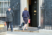 © Licensed to London News Pictures. 08/04/2014. London, UK Cutlure Secretary Maria Miller arrives at the Cabinet Meeting 8th April 2014. Photo credit : Stephen Simpson/LNP