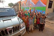 Maggie Doyne and her children at the Kopila Children's Home, Surkhet, Nepal