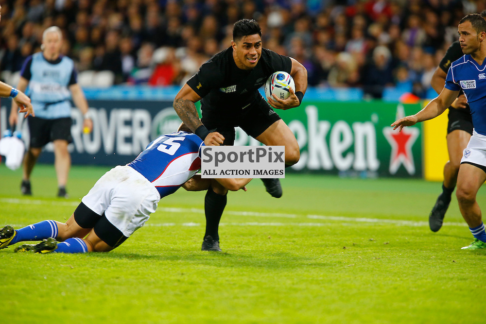 New Zealand's Centre Malakai Fekitoa. Rugby World Cup group game from Pool C between New Zealand and Namibia at Olympic Stadium. (c) Matt Bristow | SportPix.org.uk