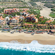 Aerial view of Sheraton Hacienda del Mar Los Cabos hotel. Baja California Sur, Mexico.