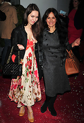 © Licensed to London News Pictures. 14/12/2011. London, England.Arlene Phillips with daughter Amy attends the English National Ballet: The Nutcracker - Christmas Performance in St Martins London .  Photo credit : ALAN ROXBOROUGH/LNP