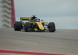 October 20, 2018 - Austin, USA - Renault Sport driver Carlos Sainz (55) of Spain comes over the hill at Turn 10 during qualifying at the Formula 1 U.S. Grand Prix at the Circuit of the Americas in Austin, Texas on Saturday, Oct. 20, 2018. (Credit Image: © Scott Coleman/ZUMA Wire)