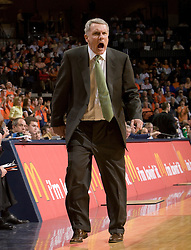 Maryland Terrapins head coach Gary Williams reacts to a play.  The Virginia Cavaliers defeated the Maryland Terrapins 91-76 at the University of Virginia's John Paul Jones Arena  in Charlottesville, VA on March 9, 2008.