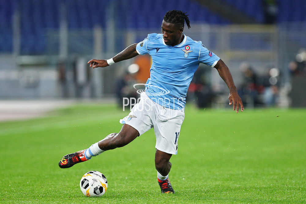 Bastos of Lazio in action during the UEFA Europa League, Group E football match between SS Lazio and CFR Cluj on November 28, 2019 at Stadio Olimpico in Rome, Italy - Photo Federico Proietti / ProSportsImages / DPPI