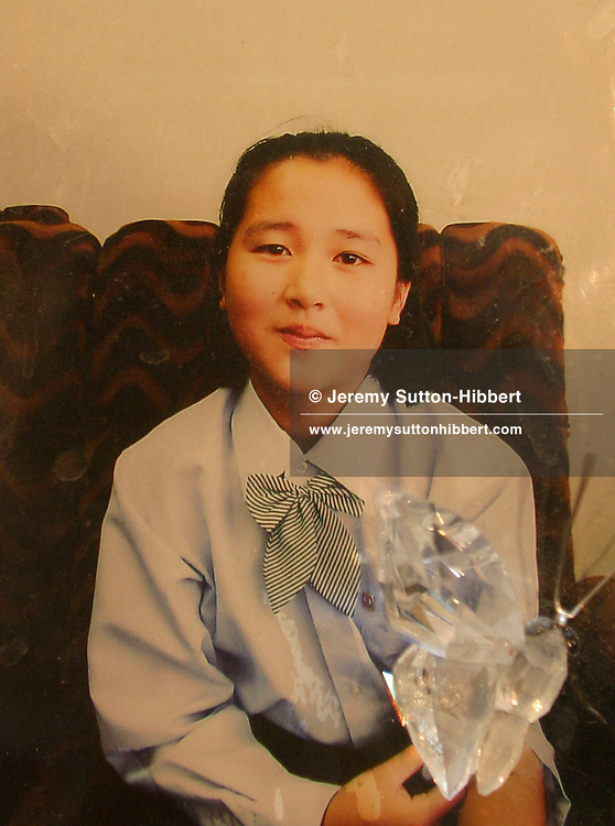 A photograph of a Kim Hye Gyong,  believed to be the daughter of Japanese citizen Megumi Yokota. Megumi Yokota was abducted in 1977 at the age of 13, from Japan, by North Korea spies.