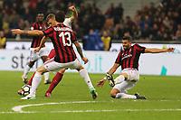 01.10.2017 - Milano  Serie A 7a   giornata  -  Milan-Roma  nella  foto: Edin Dzeko  segna il gol dell' 1 a 0