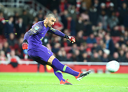 December 19, 2018 - London, England, United Kingdom - London, UK, 19 December, 2018.Tottenham Hotspur's Paulo Gazzaniga.during Carabao Cup Quarter - Final between Arsenal and Tottenham Hotspur  at Emirates stadium , London, England on 19 Dec 2018. (Credit Image: © Action Foto Sport/NurPhoto via ZUMA Press)