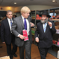 © BLAKE-EZRA PHOTOGRAPHY LTD. .www.blakeezracole.com  /  +44 (0) 7814 745512.Mayor of London Boris Johnson on the election campaign trail, visiting Jewish Care's Redbridge JCC on the morning of Thursday April 5th 2012.