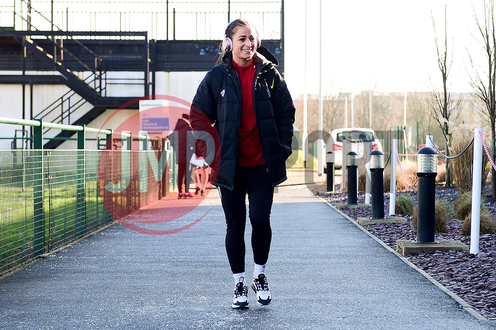 Megan Wynne of Bristol City Women arrives at Stoke Gifford Stadium prior to kick off - Mandatory by-line: Ryan Hiscott/JMP - 19/01/2020 - FOOTBALL - Stoke Gifford Stadium - Bristol, England - Bristol City Women v Liverpool Women - Barclays FA Women's Super League
