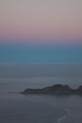 """""""Point Bonita Lighthouse Sunrise"""" - Photograph of the San Francisco Bay's Point Bonita Lighthouse at sunrise."""