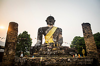 An ancient buddha statue in Xieng Khouang province, Laos.