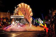 Orlando, Florida, USA, 20090324: The Disney Magic Kingdom in Orlando. An illuminated parade of all the Disney Characters in the Spectromagic Parade. Photo: Orjan F. Ellingvag/ Dagbladet/ Corbis