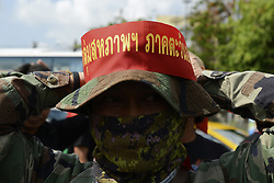 May 1, 2017 - Bangkok, Bangkok, Thailand - 01 May 2017. Thai workers takes part during parade to celebrate for Labour Day in Bangkok, Thailand. (Credit Image: © Anusak Laowilas/Pacific Press via ZUMA Wire)