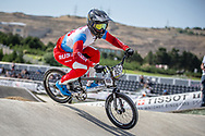 Men Elite #155 (KLESHCHENKO Evgeny) RUS the 2018 UCI BMX World Championships in Baku, Azerbaijan.