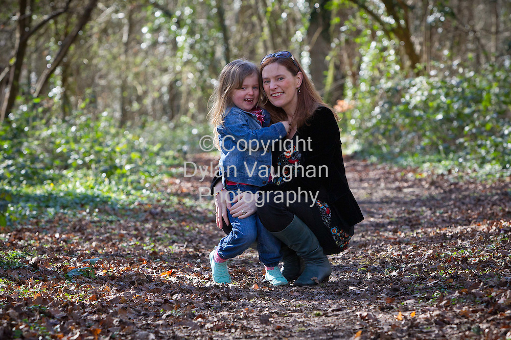 4/3/2012.Naoise O' Donovan Coogan and Siofra aged 4 pictured at Jenkinstown Wood near their home in Kilkenny..Picture Dylan Vaughan Photography.