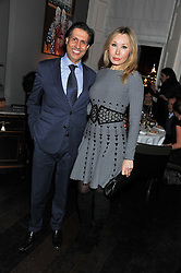 ALEXANDER BARANI and VALENTINA DROUIN at a dinner for the Serpentine Gallery's Council held at Morton's, Berkeley Square, London on 5th December 2011.