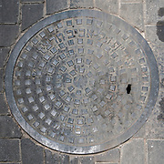 Tel Aviv, Israel A manhole cover from 1937.