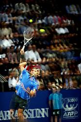 27.10.2012, St. Jakobshalle, Basel, SUI, ATP, Swiss Indoors, im Bild Roger Federer (SUI) Doppelbelichtung // during ATP Swiss Indoors Tournament at the St. Jakobshall, Basel, Switzerland on 2012/10/27. EXPA Pictures © 2012, PhotoCredit: EXPA/ Freshfocus/ Daniela Frutiger..***** ATTENTION - for AUT, SLO, CRO, SRB, BIH only *****