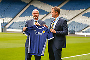 Steve Clarke arrives at the National Stadium, Hampden Park to meet the press following his appointment as the Scotland National Team head coach along side SFA Chief Executive Ian Maxwell at Hampden Park, Glasgow, United Kingdom on 21 May 2019.