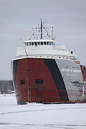 Arthur M. Anderson coming into Sturgeon Bay, WI for winter layup in 2012. She was out with the ill-fated Edmund Fitzgerald.