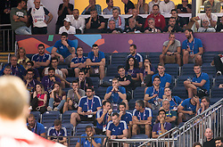 Team of Slovenia watching basketball match between National Teams of Russia and Serbia at Day 16 in Semifinal of the FIBA EuroBasket 2017 at Sinan Erdem Dome in Istanbul, Turkey on September 15, 2017. Photo by Vid Ponikvar / Sportida