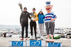 Tadej Pogacar of Ljubljana Gusto Xaurum celebrates at Trophy ceremony after the cycling race 5. VN Slovenske Istre / 5th Slovenian Istra Grand Prix, on February 25, 2018 in Izola/ Isola, Slovenia. Photo by Vid Ponikvar / Sportida