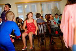 CZECH REPUBLIC VYSOCINA NEDVEZI 6MAR10 - Childrens' carnival celebration in the village hall of Nedvezi, Vysocina, Czech Republic. Karnival is the biggest communal event and celebration for the 200-odd villagers...jre/Photo by Jiri Rezac..© Jiri Rezac 2010