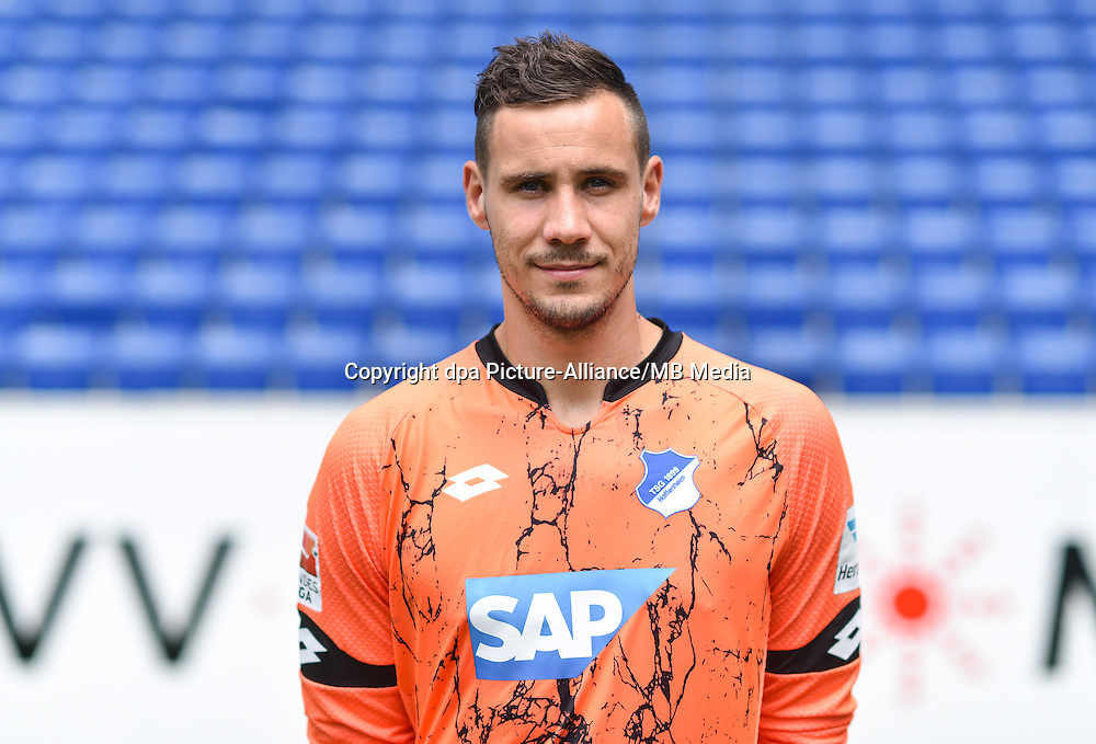 German Soccer Bundesliga 2015/16 - Photocall 1899 Hoffenheim on 14 July 2015 in Sinsheim, Germany: Jens Grahl.