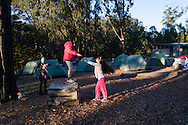 Melrose Leadership Academy students from Oakland Unified School District spend the night at Rob Hill Campground. The Presidio's Rob Hill is the only overnight campsite in San Francisco.