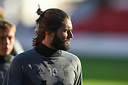 Nottingham Forest midfielder Henri Lansbury (10) warms up ahead of the EFL Sky Bet Championship match between Nottingham Forest and Queens Park Rangers at the City Ground, Nottingham, England on 5 November 2016. Photo by Jon Hobley.