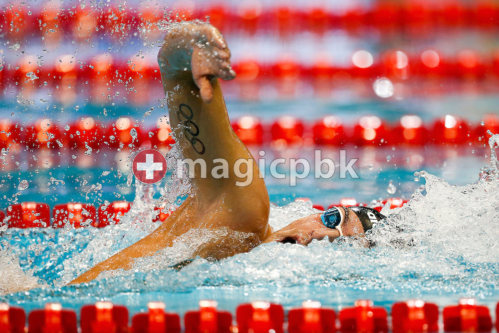 Gabriele DETTI of Italy competes in the men's 400m Freestyle Heats during the 18th LEN European Short Course Swimming Championships held at the Wingate Institute in Netanya, Israel, Wednesday, Dec. 2, 2015. (Photo by Patrick B. Kraemer / MAGICPBK)