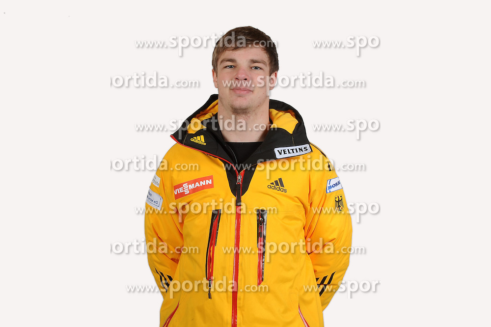 03.01.2014, Kunsteisbahn, Koenigssee, GER, BSD, Rennrodler Team Deutschland, Portrait, im Bild David Gamm, (BSC Winterberg) // during Luge athletes of team Germany, Portrait Shooting at the Kunsteisbahn in Koenigssee, Germany on 2014/01/04. EXPA Pictures &copy; 2014, PhotoCredit: EXPA/ Eibner-Pressefoto/ Stuetzle<br /> <br /> *****ATTENTION - OUT of GER*****
