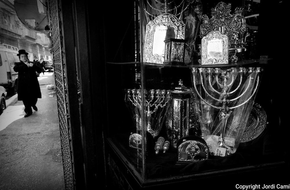 Religious articles shop in the Mea Shearim neighborhood in Jerusalem.