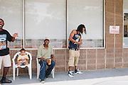 Atlanta rapper Ca$h Out seen at American Wings and Seafood in Atlanta, Georgia June 15, 2012.