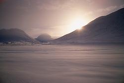 Hjaltadalur í snjó að vetri til / Hjaltadalur during winter