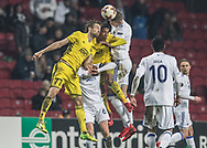 FOOTBALL: Denis Vavro (FC København) jumps for the ball during the UEFA Europa League Group F match between FC København and FC Sheriff at Parken Stadium, Copenhagen, Denmark on December 7, 2017. Photo: Claus Birch