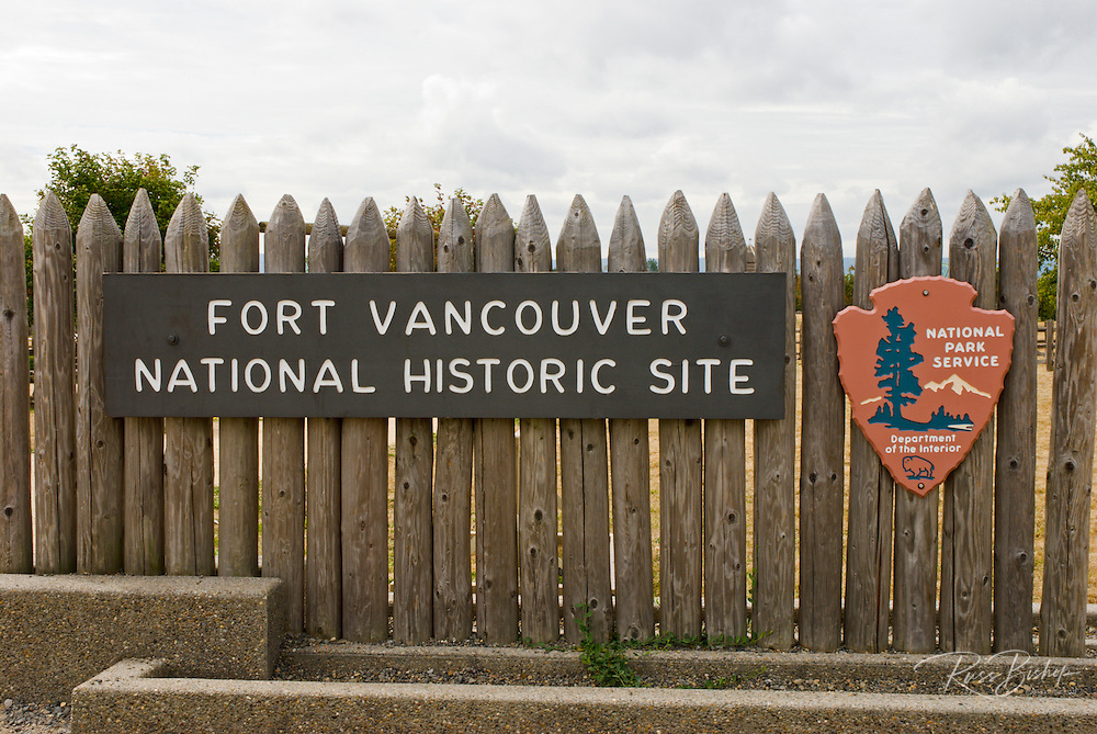 Entrance to Fort Vancouver National Historic Site, Vancouver, Washington